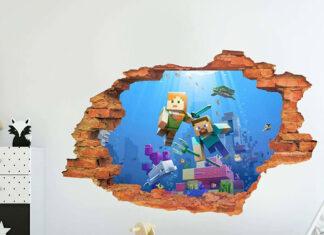 naklejki na ścianę minecraft